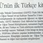 ODTÜ'nün İlk Türkçe Kitaplığı