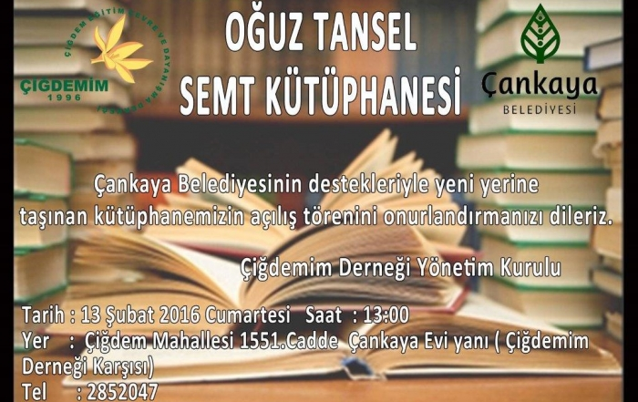 kütüphane davetiye