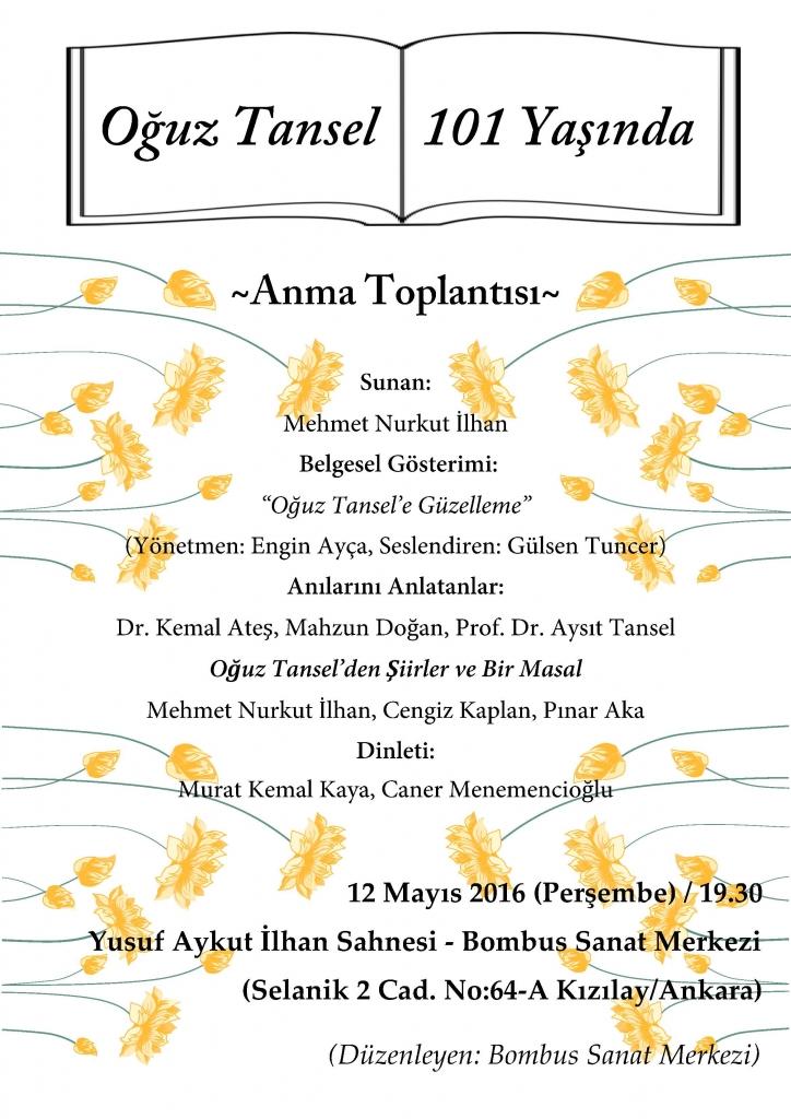 12 Mayıs 2016-Bombus-Afiş